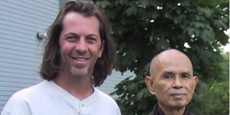Local filmmaker, Scott Carter (L), with Robert Thurman (R), a foremost American Buddhist scholar.