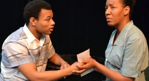 Students rehearse the 2017 performance of 'A Raisin in The Sun'