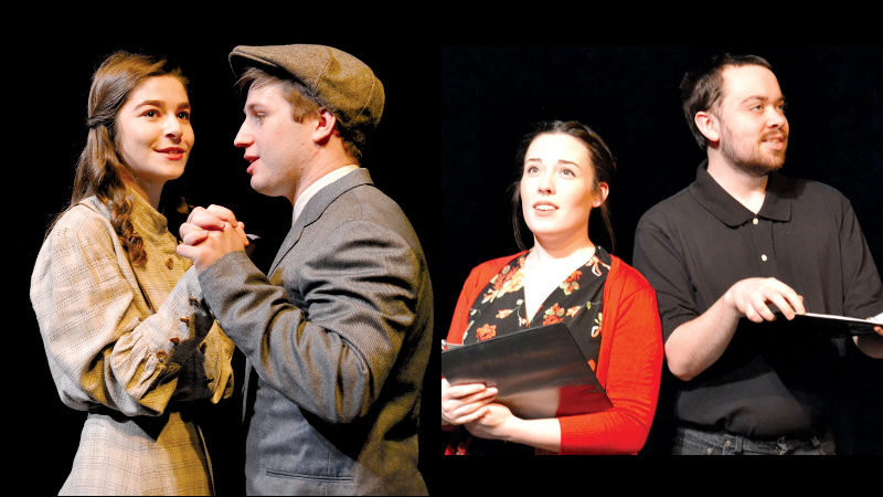 """(Left): The cast of """"Spring Awakening"""", (Right): The cast of """"The Butterfly""""."""
