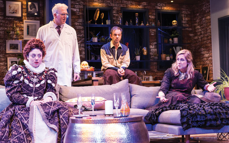 Is truth better than fiction? (L-R) Claire (Aphrodite Nikolovski), Ridley (Alex Leydenfrost), Phil (David Bendena) and Lauren (Kate Thomsen) find out during an evening unable to lie.