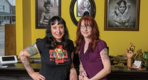 Owner Dana Forrester (L) and Artist Jamie Epsy Bollerud (R) are dedicated to providing tattoos their clients will treasure for a lifetime. photo credit: Doug Coombe