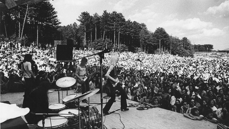 Johnny Winter, performing at the 1970 Ann Arbor Blues Festival Photo: Charlie Auringer