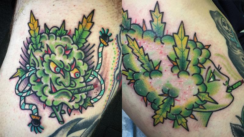 DestroyTroy creates permanent pieces of art on cannabis enthusiasts