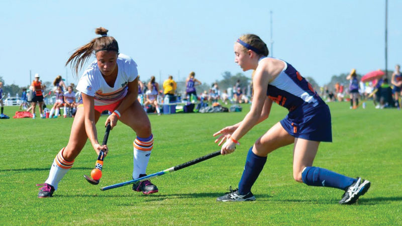 Field hockey requires high levels of communication, collaboration and cooperation. Photo by Karen Smyte