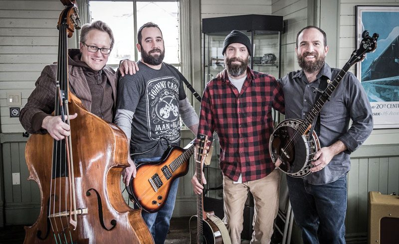 From campfire songs to studio albums, (L-R) Ozzie Andrews, Tony Pace, Andrew Sigworth and Brian Williams have maintained a thorougly midwestern sound. Photo: Misty Lyn Bergeron