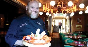 Chef Loren Halprin of the Graduate Hotel's Allen Rumsey Supper Club