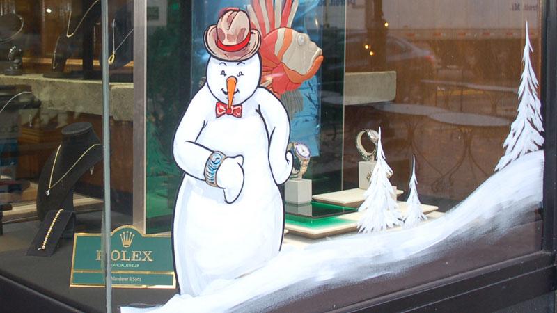 A Rolex-wearing snowman at Schlanderer & Sons.