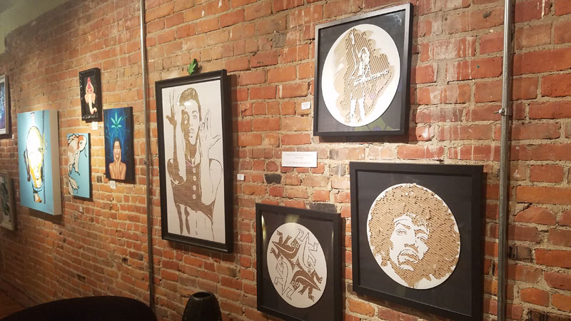 Some of the artwork available at OM