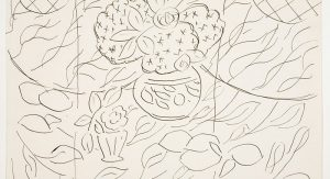 "Henri Matisse, Sketch for the painting ""Lemons and Mimosas on a Black Background."" (1944)"