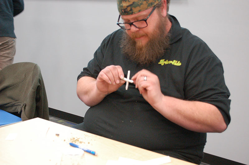 Jason Erwin of ArborSide puts the finishing touches on his Cross Joint.