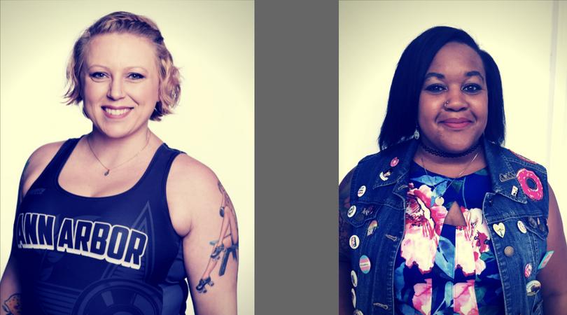(Left) Amelia Spareparts. (Right) Michelle O'Bombya.