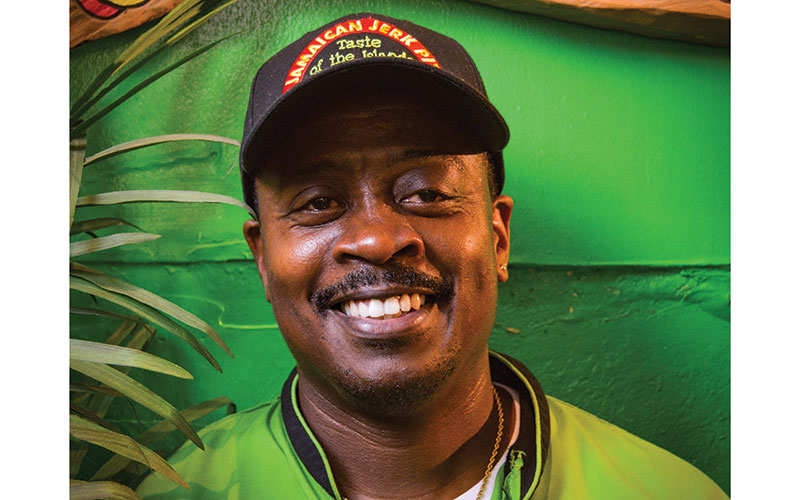 Robert Campbell, chef and owner of Jamaican Jerk Pit.