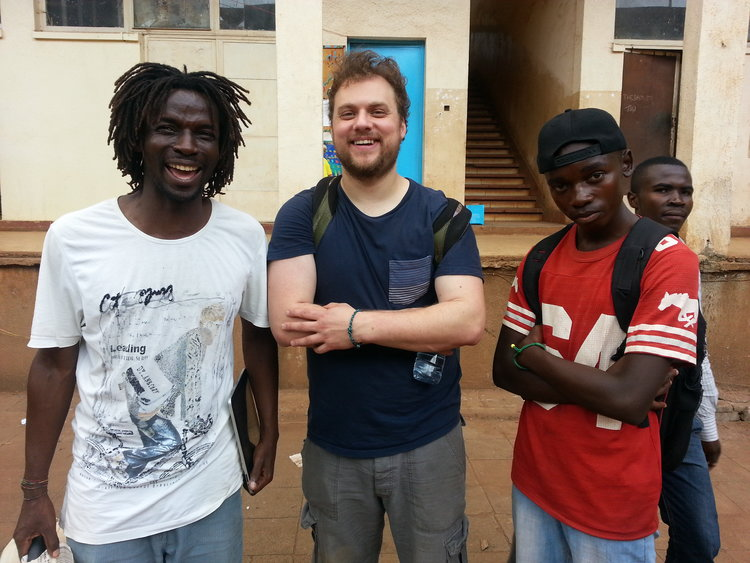 At the Ndaro Center in Bukavu Ben Cohen with Thomas Lusango and student in Bukavu DRC