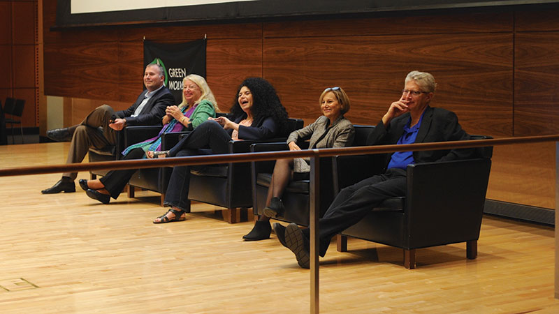 Panelists at the 2018 Green Wolverine Science Symposium at Ross School of Business spoke about the professional study of THC and CBD.
