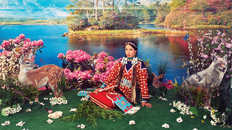 Wendy Red Star (American, Apsáalooke [Crow] Nation, born 1981), Four Seasons Series (Spring). Four archival pigment prints 2006.