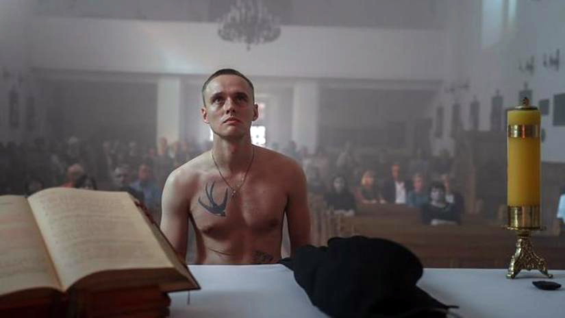 A still from Corpus Christi, a 2019 Polish drama about a released prisoner who is mistaken for a priest.