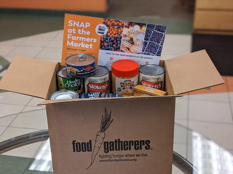 Emergency food box Food Gatherers